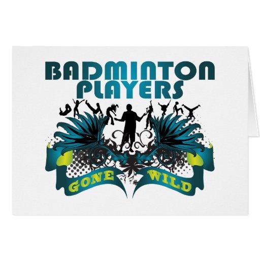 Jugadores del bádminton idos salvajes tarjetón