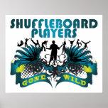 Jugadores del Shuffleboard idos salvajes Póster