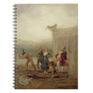 Jugadores que dan un paseo, 1793 (aceite en la pla cuaderno