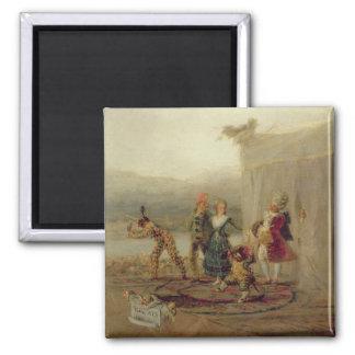 Jugadores que dan un paseo, 1793 (aceite en la pla imanes