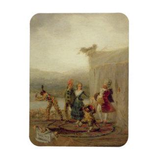 Jugadores que dan un paseo, 1793 (aceite en la pla iman de vinilo