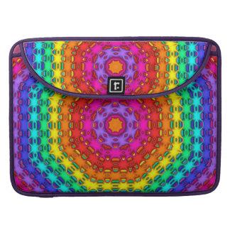 Jugando con un arco iris, modelos abstractos funda para macbooks