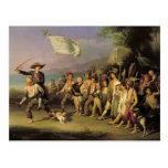 Jugando en los soldados, revolución romana 1848 postal