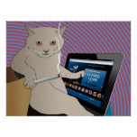Jugando, gato que fuma que juega el casino del ipa poster