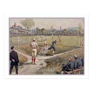 Jugando la antigüedad de Louis Prang del béisbol i Postales