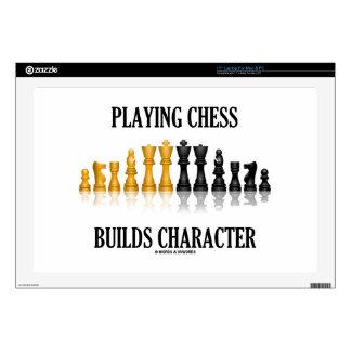 Jugar a ajedrez construye el carácter (el ajedrez calcomanías para portátiles