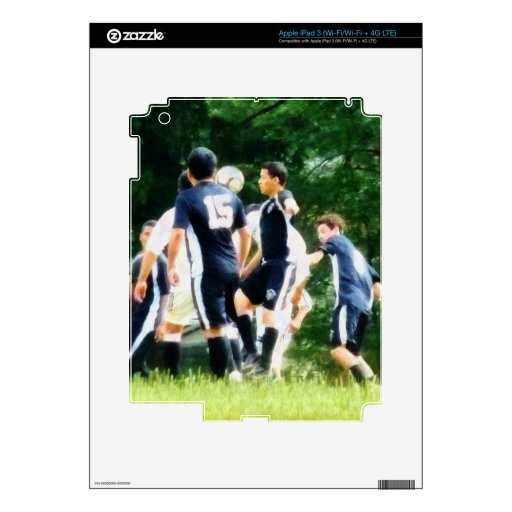 Jugar a fútbol iPad 3 pegatinas skins