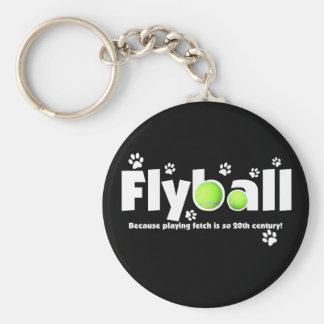 Jugar búsqueda es Flyball del siglo XX Llavero Redondo Tipo Pin