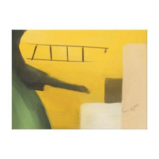 Jugar el aeroplano lienzo envuelto para galerias