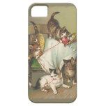 Jugar el caso del iPhone 5 de los gatitos iPhone 5 Protector