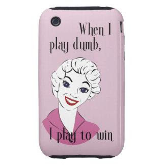 Jugar el caso duro mudo del iPhone 3G/3GS iPhone 3 Tough Carcasa
