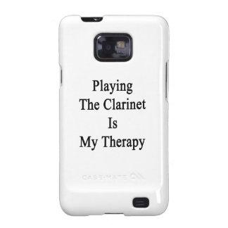 Jugar el Clarinet es mi terapia Samsung Galaxy SII Fundas