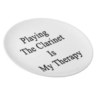 Jugar el Clarinet es mi terapia Platos Para Fiestas