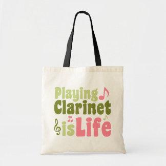 Jugar el Clarinet es vida Bolsa Tela Barata
