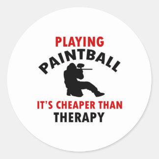 jugar el diseño de Paintball Pegatina Redonda