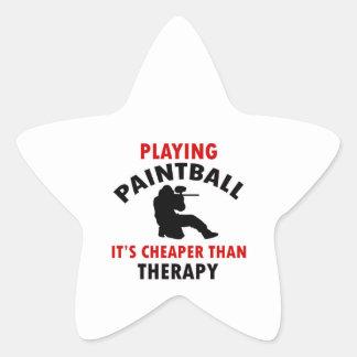 jugar el diseño de Paintball Pegatina En Forma De Estrella