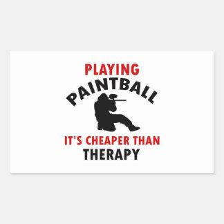 jugar el diseño de Paintball Pegatina Rectangular