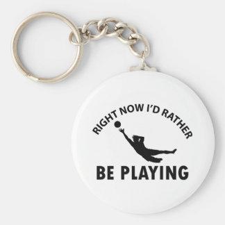 Jugar el goalkeep llavero