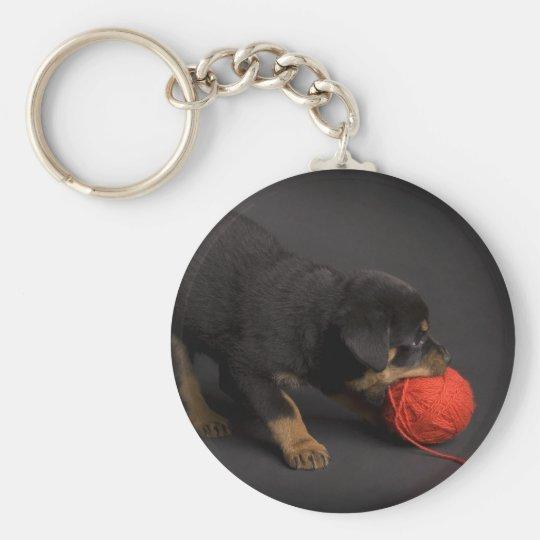 Jugar el perrito 1 llavero redondo tipo pin
