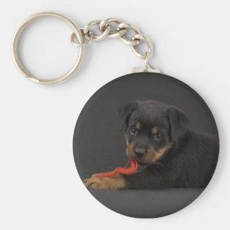 Jugar el perrito 5 llavero redondo tipo pin