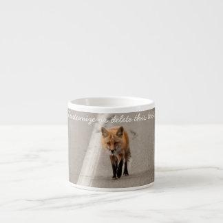 Jugar el pollo con un Fox; Personalizable Tazitas Espresso
