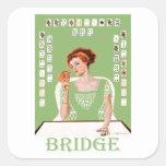 Jugar el puente calcomania cuadradas