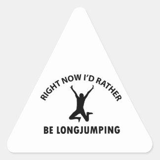 Jugar el salto pegatina triangular