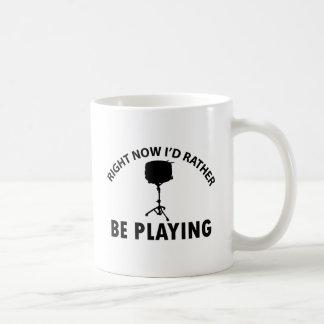 Jugar el tambor tazas