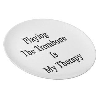 Jugar el Trombone es mi terapia Platos De Comidas