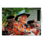 Jugar el Ukulele en el desfile Tarjeta