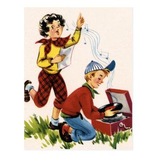 Jugar expedientes de los años 50 postales