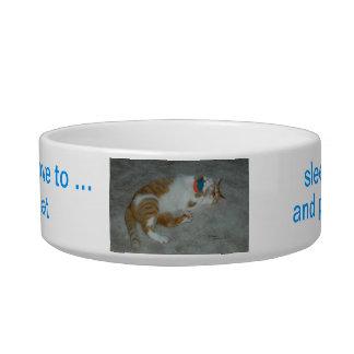 Jugar gatos de relajación bol para gato