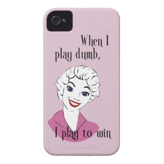 Jugar la caja intrépida muda de Blackberry Case-Mate iPhone 4 Carcasa