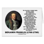 Jugar la cita de Benjamin Franklin de la precaució Tarjetas