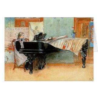 Jugar las escalas 1898 tarjeta de felicitación