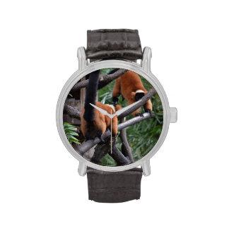 Jugar Lemurs hinchados rojo de los primates Relojes