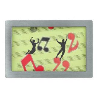 Jugar música hebillas cinturón rectangulares
