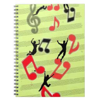 Jugar música libros de apuntes