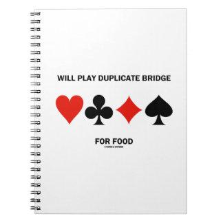 Jugará el puente duplicado para los juegos de la libros de apuntes