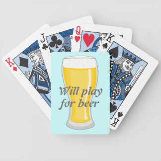 Jugará para el gráfico de la diversión de la cerve baraja de cartas