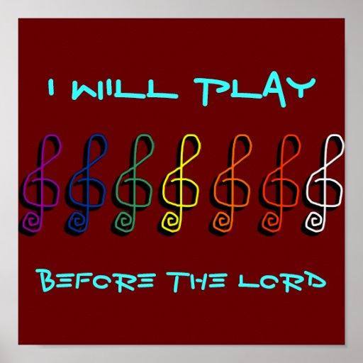 Jugaré antes del señor póster