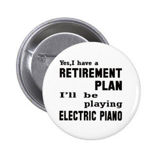 Jugaré el piano eléctrico pin redondo 5 cm