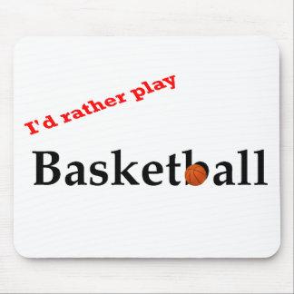Jugaría bastante el cojín de ratón del baloncesto alfombrillas de raton
