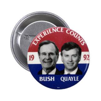 Jugate de Bush-Quayle - botón Pin Redondo De 2 Pulgadas
