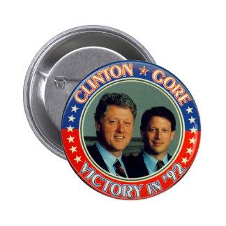 Jugate de Clinton y de Gore '92 Pin Redondo De 2 Pulgadas