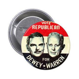 Jugate de Dewey-Warren - botón Pin