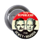 Jugate de Dewey-Warren - botón Pin Redondo De 2 Pulgadas