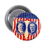 Jugate de Hoover-Curtis - botón Pin Redondo De 2 Pulgadas