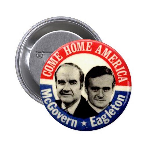 Jugate de McGovern-Eagleton - botón Pin Redondo De 2 Pulgadas