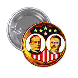 Jugate de McKinley-Roosevelt Pins